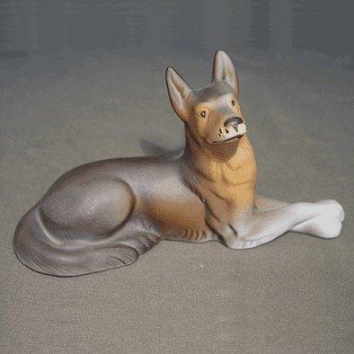 """""""Laying Wolfdog"""" Royal Dux Porcelain Figurine"""