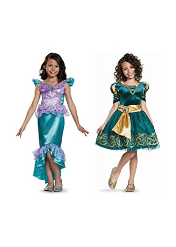 Disney Merida and Ariel Little Girls Costumes (Toddler (3T to 4T))