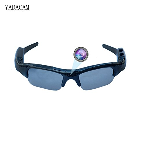 YADACAM 1080P HD sunglasses spy hidden camera, Black Mini Ey