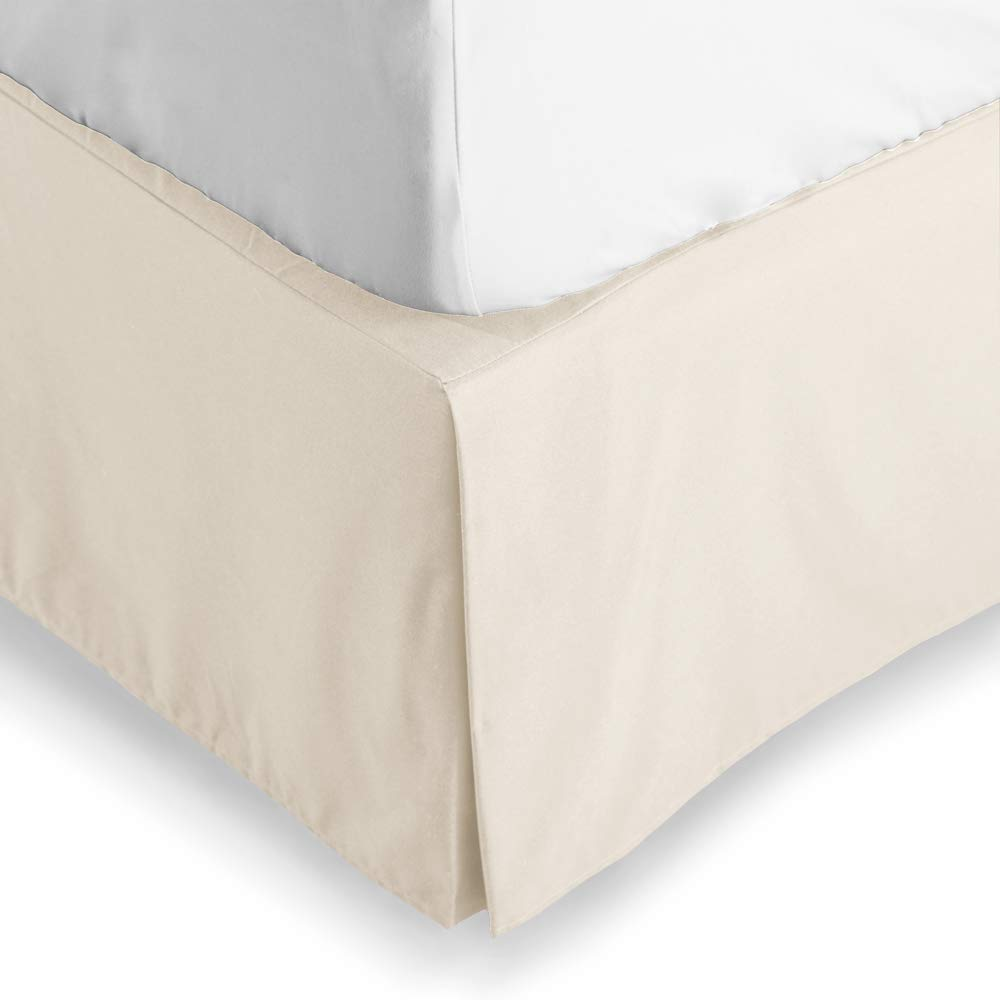 Threads Collection 500TC Sateen Bed-Skirt 100/% Egyptian Cotton Finest Quality Long Staple 500 Thread Count Queen Taupe Solid Comfortable and Abrasion Resistant Durable