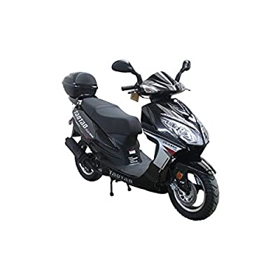 Smart Deals Now Brings 49cc 50cc Big Size Gas Street Legal Scooter Moped TaoTao EVO 50 - Jet Black Color : Sports & Outdoors