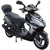 50cc Bigger Size Gas Street Legal Scooter TaoTao EVO 50 - Black