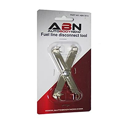 ABN Fuel Line Disconnect Scissor Tool for 5/16in and 3/8in Vehicle Fuel Lin Compatible with GM, Ford, Mazda: Automotive