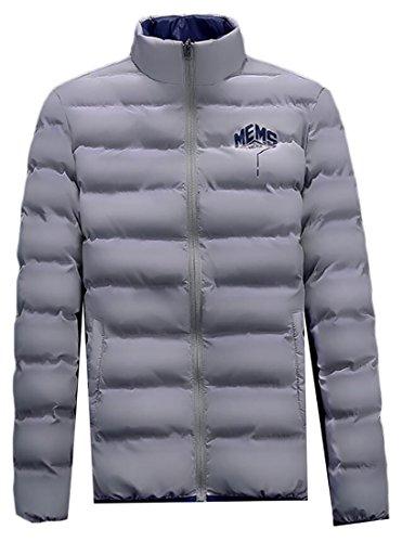 Men's Jackets Gery Coats Stand Collar Generic Puffer Warm Down dwqdT