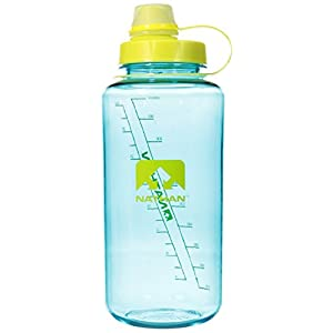 Nathan BigShot Narrow Mouth Bottle, Teal/Celeste Yellow