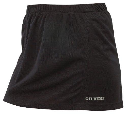 GILBERT oficial Hockey Tejido elástico con alto contenido de elastano pulso falda, negro negro