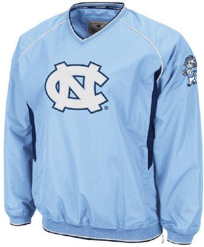 UNC Tarheels Carolina Blue Embroidered V Neck School Pride Wind Jacket by Colosseum (L=44)