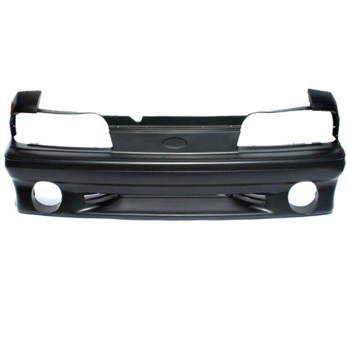 CarPartsDepot, Front Bumper Cover 5.0 V8 Raw Matte Black Plastic Non-Primed Replacement, 352-18121-10-BK FO1000164 F3PZ8190A??