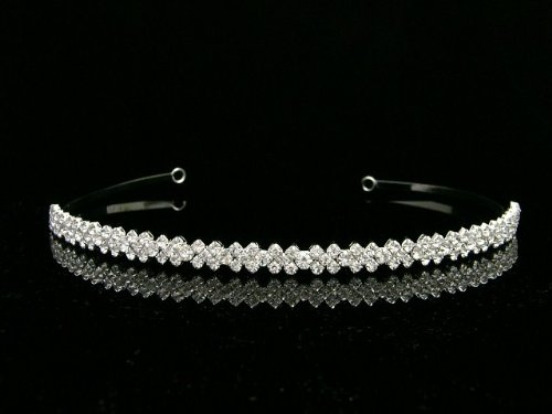 Simple Rhinestone Crystal Bridal Wedding Headband Tiara - Single band T589