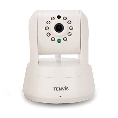 TENVIS TZ100 HD Wireless IP/Network Security Camera, Remote Live View, Capture Picture and Video Clip, Pan & Tilt, Plug&Play, with Two-Way Audio and Night Vision, Motion Detection with Alert (White)