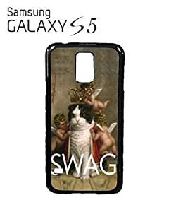 Royal Kitten Swag Angels Meow Jesus Cell Phone Case Samsung Galaxy S5 White by mcsharks
