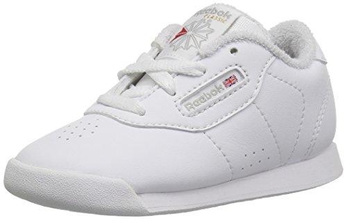 Reebok Unisex Princess Sneaker, White/Grey, 13 M US Little Kid]()