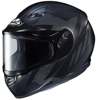 HJC Helmets CS-R3SN TREAGUE Unisex-Adult Full Face Snow Helmet with Framed Dual Lens Shield (Black/Grey, (Hjc Dual Lens Shield)