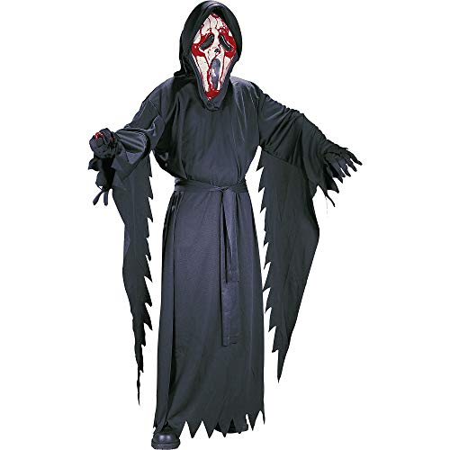 FUN WORLD EASTER UNLIMITED Bleeding Ghostface Scream Halloween Costume for Boys, Extra Large, with Included -