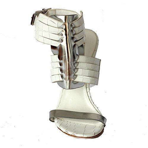 BCBGMAXAZRIA - Sandalias de vestir de Piel para mujer Blanco blanco 35.5