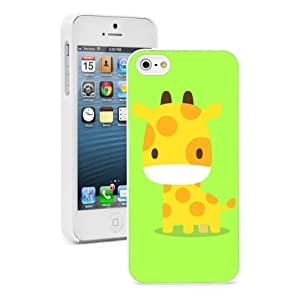 Pink Ladoo? For iPhone 4 4S Hard Case Cover Cartoon Giraffe on Green -02