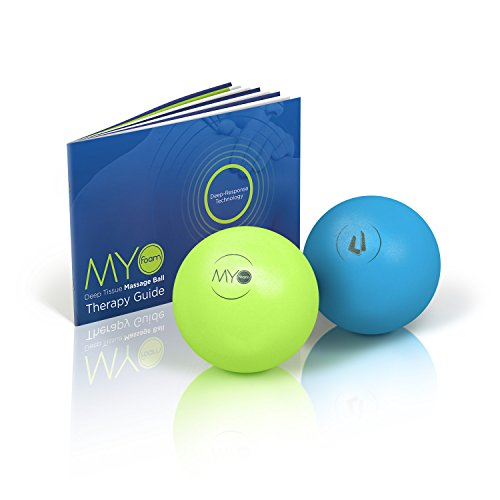 """Deep Tissue Massage Balls with Myofoam for Trigger Point Therapy 4"""" Medium & High Density"""