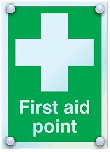 210 mm Length x 148 mm Width 6mm Acrylic Signs and Labels AMZFA011A5TARA5 First Aid Point Safe Condition Safety Sign