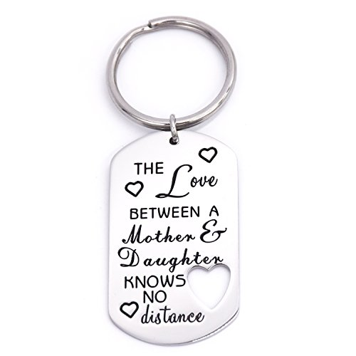 - LParkin The Love Between a Mother & Daughter Knows No Distance Key Chain Dog Tag Keychain