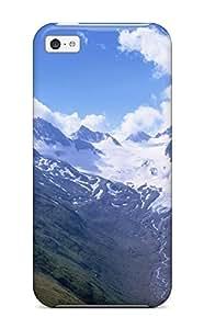 Rugged Skin Case Cover For Iphone 5c- Eco-friendly Packaging(mountain) wangjiang maoyi