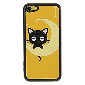 LIMME Little Kitten On The Moon Pattern Shimmering PC Hard Case for iPhone 5C