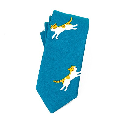 May Lucky Skinny Cotton Cartoon Neck Tie Floral Tie for - The Skinny Cat