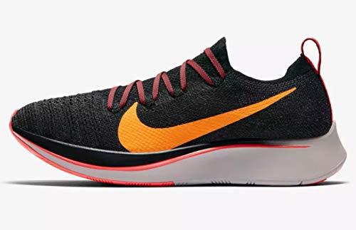 NIKE Zoom Fly Flyknit Women's Running Shoe Black/Orange Peel-Flash Crimson 9.5