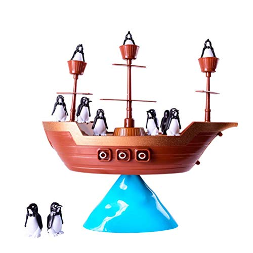 Toyvian Pirate Boat Balancing Game Toy Gift Kids Early Educational - Boat Game Balancing
