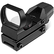 Flexzion Sight Red/Green Dot Sightmark Tactical Holographic Picatinny Rail Reflex Optic - Hunting Paintball Tool for Shotgun Rifle Pistol Scope with Locking Screw & Battery