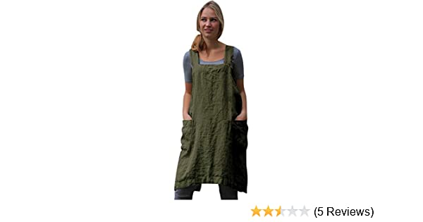 124f203d36907 Womens Vintage Cross Back Sleeveless Apron Overall Tunic Dress ...