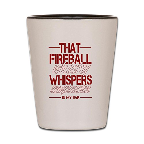 CafePress - Fireball Whisky Shot Glass - Shot Glass, Unique and Funny (Fireball Glass)