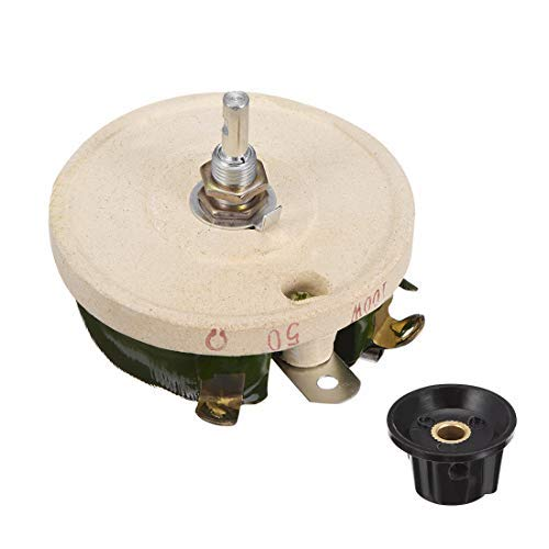 200W 10R Ohm Ceramic Potentiometer Variable Rheostat Resistor with Wire and knob