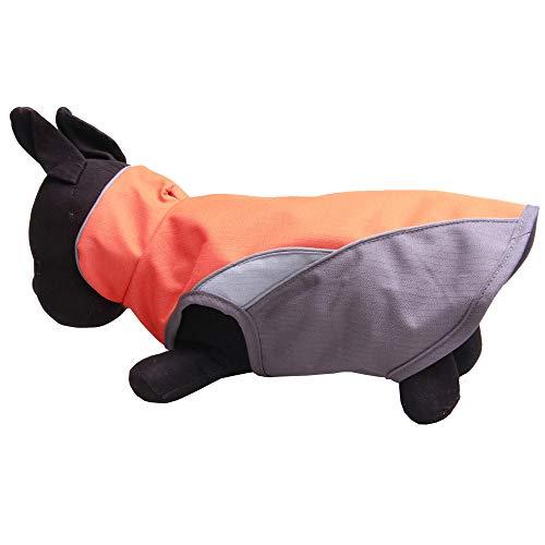 WELCOMEUNI Waterproof Dog Outdoor Reflective Jacket Coats Comfy Vest Pet Apparels Windbreaker Clothes Orange