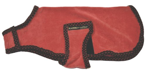 Horseware Ireland - Rambo Newmarket Dog Coat - Red & Polka Dots - Large (Rambo Fleece Newmarket)
