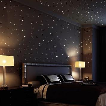 Amazon.de: Wandtattoo-Loft 350 Leuchtpunkte und Leuchtsterne für ...