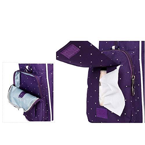 Pañal Materno Bag Blue2 Aire La Al Libre Usos Multifunción De Capacidad Nappy Del Gran Floral Mummy Bolso Fashion Tres Mochila Sx4qRPUd