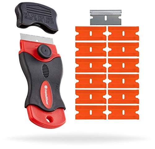 InstallGear Razor Scraper with 12 Safety Plastic Razor Blades
