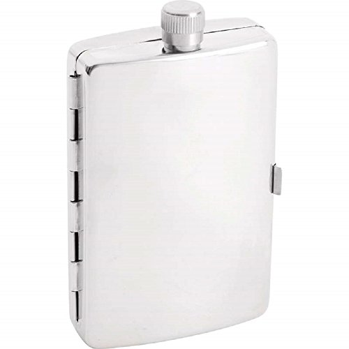 (Maxam 2.5 Ounce Stainless Steel Flask with Cigarette Holder)