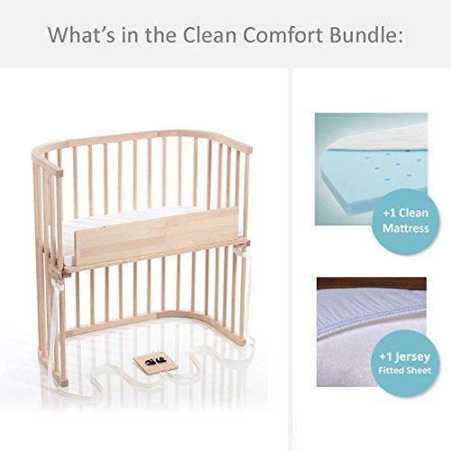 babybay Bedside Sleeper Clean Comfort Bundle in Light Gloss