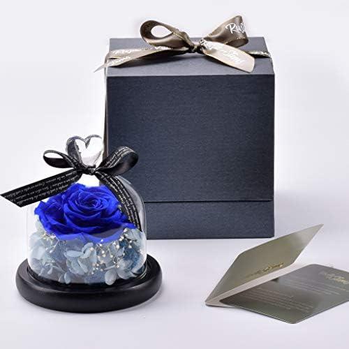 素朴な茎 ショッピング  迅速な対応で商品をお届け致します – 小さなハンドメイド プリザーブド本物のバラ ガラスドーム入り 永遠の永遠のフラワーデコレーション 母の日 記念日 バレンタイン 誕生日 ウェディングのギフト