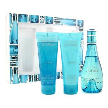 Cool Water Coffret: Eau De Toilette Spray 100ml/3.4oz+ Body Lotion 75ml/2.5oz+ Gentle Shower Breeze 75ml/2.5oz - 3pcs (25 Oz Eau De Toilette)