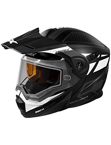 Castle X CX950 Blitz Modular Snowmobile Helmet (2XL, Matte Black/White)