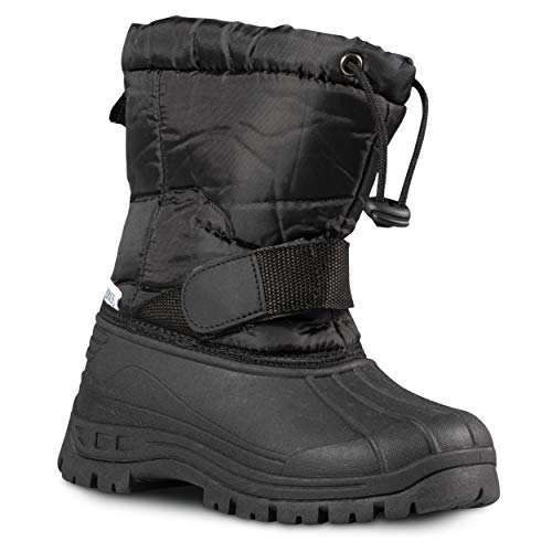 ZOOGS Kids Snow Boots for Girls and Boys; Youth and Toddler Snow Boots, Black, 8 Toddler (Snow Boots For Toddler Boys)