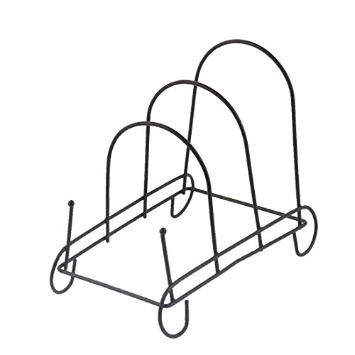 uxcell Metal Bowl Dish Plate Rack Drying Organizer Drainer Storage Holder Sink Cabinet Kitchen 18.2 x 9.7 x 15.5cm by uxcell