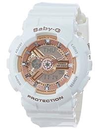 Casio Women's Baby-G BA110-7A1 White Silicone Quartz Watch