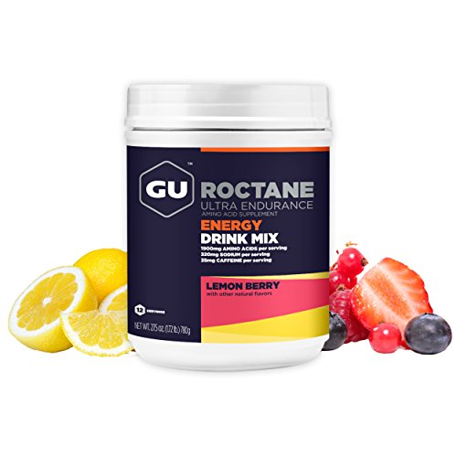 GU Energy Roctane Ultra Endurance Energy Drink Mix, 1.72-Pound Canister, Lemon Berry