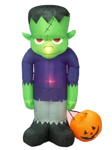BZB Goods 8 Foot Tall Huge Illuminated Halloween Inflatable Frankenstein's Monster Decoration (Cute Halloween Yard Decoration Ideas)