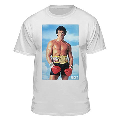 Rocky Balboa Official 80s Movie Championship Belt White T-Shirt -