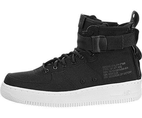 Nike Big Kids SF Air Force 1 Mid Sneakers 7y M US (Black/Anthracite-White) ()