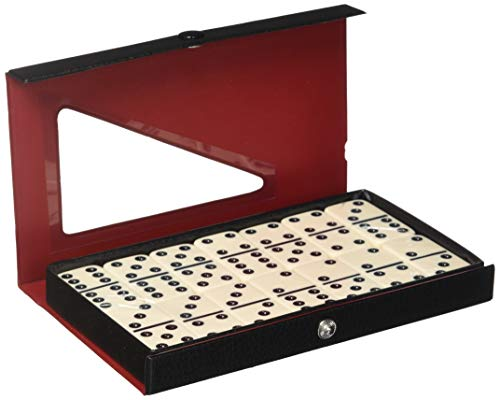 - D6 Standard Dominoes Ivory with White Pips